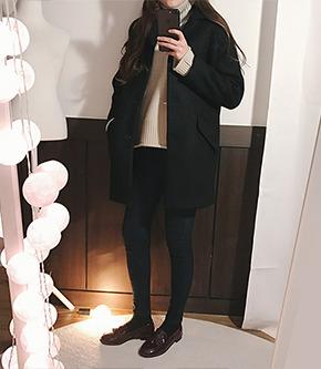 밤비코트(블랙) [울40]
